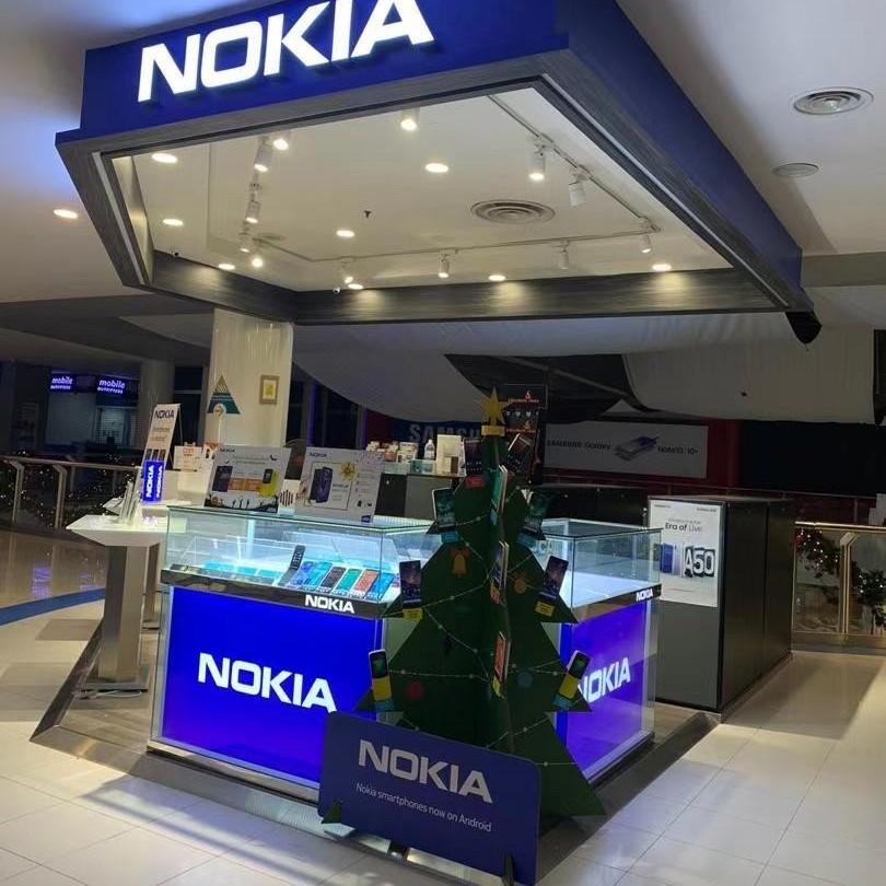 手机类纸圣诞树