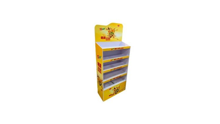 维他柠檬茶纸货架/饮料纸展示架
