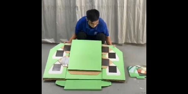 纸货架安装视频