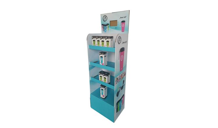 水壶纸展示架/日用品纸货架