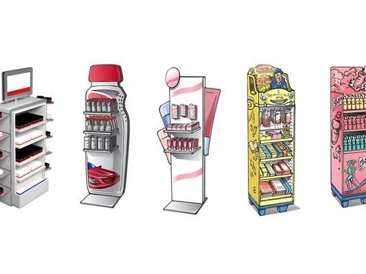 新一代立式展示架澳澌汀展示为您提供标准化多方案展示