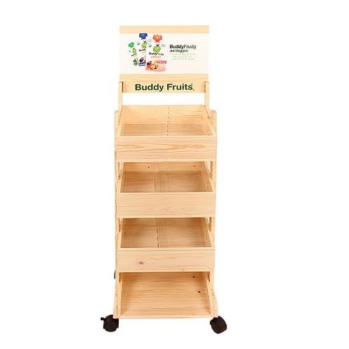 落地木质糖果展示架/商超食品木质陈列架